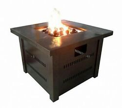 Patio Heaters Gas Firepit Butane Propane Tabletop Fire Pit Antique Bronze Finish