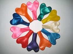 1 250pc 12quot; 10 Color Heart Shape Latex Balloons Wedding Party Decoration Helium $5.95