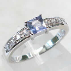 CLASSY TANZANITE 925 STERLING SILVER RING SIZE 5-10