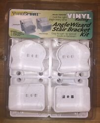 US Fence YardSmart Vinyl Railing Angle Wizard Stair Bracket Kit Maintenance Free