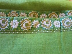 Vintage look Bedding TWIN blanket French Country Shabby Cottage Cabin CHIC