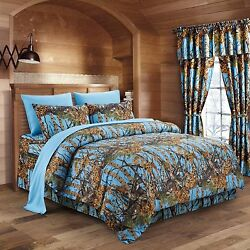 Bed in a Bag Woods Camouflage Premium Luxury Popular Bedding Set New