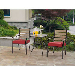 Balcony Bistro Set 2 Chairs and Small Table Outdoor Garden Dining 3 Piece