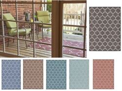 Modern Geometric Contemporary Moroccan Style Carpet Large Area Rug Small Outdoor