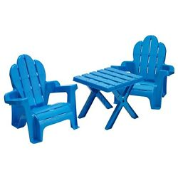 Patio Set For Kids Table Chair Set For Kids Plastic Outdoor Adirondack Pool