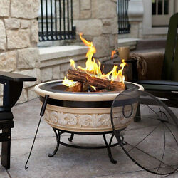Outdoor Angel Wings FirePit Portable Wood Burning Magnesia Patio Deck  Camping