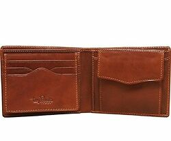 Tony Perotti Mens Italian Bull Leather Bifold Wallet with Removable ID Card C...
