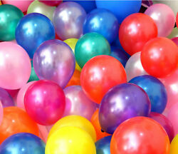 100pcs 10 inch Pearl Latex Colorful Thickening Wedding Party Birthday Balloon $6.24
