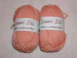 2 SKEINS -- DEBBIE BLISS BABY CASHMERINO - Color #22 - PEACH - 274 total yards