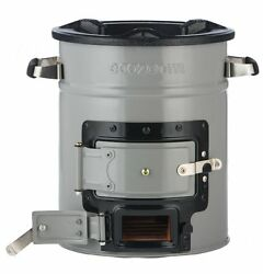 Rocket Stove Freestanding Grill Dura Patio Outdoor Cooking Wood Biomass Charcoal