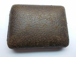 PATEK PHILIPPE POCKET WATCH NATURAL LEATHER BROWN BOX ANTIQUE AGED RARE PART
