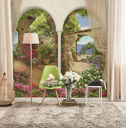 3D Private Garden Statue 1597 Wallpaper Decal Decor Home Kids Nursery Mural Home