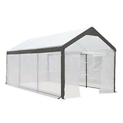 Walk In Greenhouse Fully Enclosed Portable Lightweight Windows 10 x 20-Ft Large