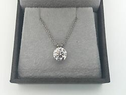 2.10 CT ROUND DVS1 ENHANCED REAL DIAMOND SOLITAIRE PENDANT PLATINUM
