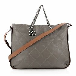 Chanel Country Chic Shoulder Bag Quilted Lambskin Large