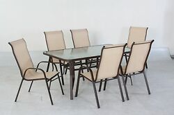 7 pc. Sling Patio Set with 6 chairs