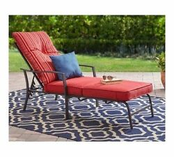Outdoor Patio Chaise Lounge Chair Red Cushion - FREE SHIPPING*