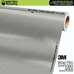 3M 1080 Series BRUSHED ALUMINUM Vinyl Vehicle Car Wrap Film Sheet Roll BR120