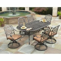 Outdoor 7-Piece Patio Dining Patio Deck Pool Porch Set Furniture New