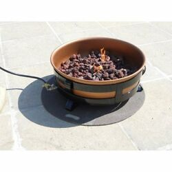 Outdoor Patio Backyard Portable Propane Fire Pit with Copper Bowl Fireplace