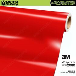 3M 1080 Series GLOSS HOT ROD RED Vinyl Vehicle Car Wrap Decal Film Roll G13