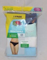 Fruit of the Loom 5 Pack Breathable Micro Mesh Bikinis $23.00