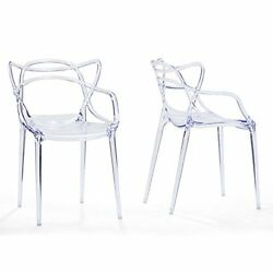 WHOI-6146-Baxton Studio Electron Clear Plastic Contemporary Dining Chair (Set o
