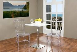 WHOI-6150-Baxton Studio Crystal Clear Plastic Contemporary Dining Chair (Set of