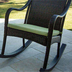 Hanover Outdoor Furniture Orleans Rocking Chair Cushion For Porch Patio Green