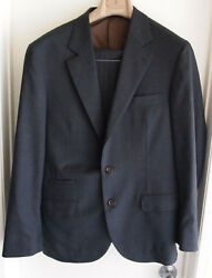 Brunello Cucinelli Men's Size 50 Grey 100% Lana Wool Suit Made In Italy Used