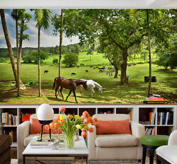 3D Horse prairie 246 Wall Paper Print Wall Decal Deco Indoor Wall Murals