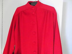 Vintage Moschino Couture Red Lana WoolCashmere Frock Made in Italy Size 8 (US)