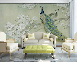 3D Peacock tree 676 Wall Paper Print Wall Decal Deco Indoor Wall Murals