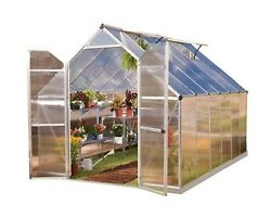 Essence 8 ft. x 12 ft. Silver Polycarbonate Home Planter Portable Greenhouse