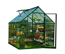 Harmony 6 ft. x 8 ft. Polycarbonate Greenhouse Green Home Plant Garden Outdoor