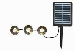 Light Set Deck Path String Solar Panel Walkway Pathway Backyard Black Set of 3