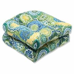 Patio Furniture Seat Cushions For Wicker Chairs Outdoor Geometric Print Set of 2