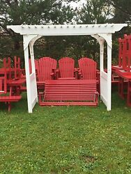 Arbor With Swing Berlin Gardens Patio Furniture Poly  Resin Amish Made