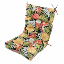 Patio Chair Cushions High Back for Wicker Furniture Outdoor Seats Tropical Set 2