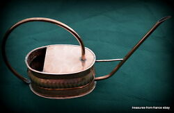 French antique copper watering can orchid garden greenhouse flowers gardener