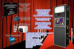 Photo Booth-FREE WEBSITE-Black curtain and Stand WE HELP YOU START