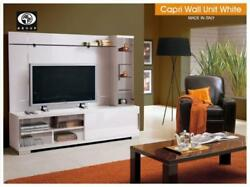 ESF Capri High Gloss White Lacquer Entertainment TV Center Made in Italy