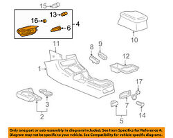 Saturn GM OEM 2000 LS Center Console-Ash Tray 24421516