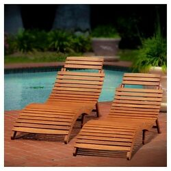 Set 2 Lahaina Natural Patio Wood Chairs Design Concept Home Outdoor Patio Garden