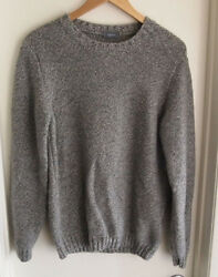 Rossopuro Men's Size 52 90% Cashmere 10% Lana Wool Gray Sweater Quality Used