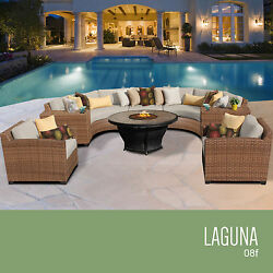 All Weather Rattan Wicker Furniture Set 8 Pc Outdoor Patio Deck Pool Sectional