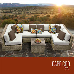 Outdoor Patio Wicker Furniture Set 7 Piece Deck Pool Sofa Seating All Weather