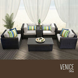 Outdoor Deck Furniture Set 6 Piece Wicker Patio Pool Lounge Seating All Weather