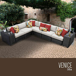 Outdoor Patio Furniture Set 8 Piece All Weather Wicker Sofa Home Deck Pool Seats