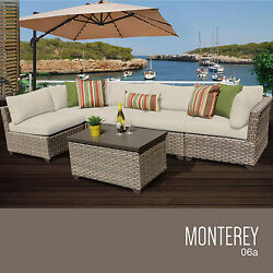 Outdoor Patio Wicker Sofa Set 6 Piece Deck Pool Furniture Lounge All Weather